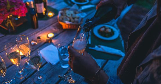 cena al chiar di luna